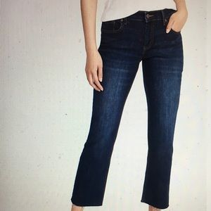 OLD NAVY Raw-Edge Cropped Flared Jeans Size 14